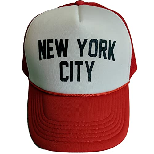 NYC FACTORY New York City Baseball Hat Screen-Printed Mesh Trucker Cap