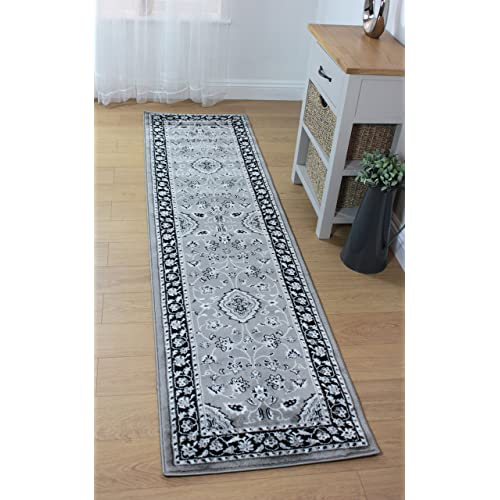 Lord of Rugs Sherborne Oriental Traditional Classic Rug, Grey Silver in Variations Sizes Carpet (