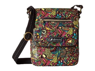 Sakroots Artist Circle Small Flap Messenger (Rainbow Spirit Desert) Cross Body Handbags
