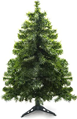 4b95faaf4cd Prextex 4 Feet Premium Hinged Artificial Canadian Fir Christmas Tree  Lightweight Easy to Assemble with