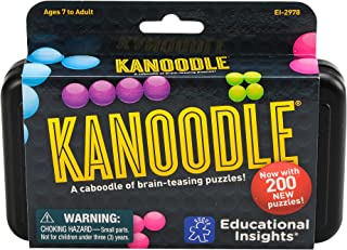 Educational Insights Kanoodle | Brain Twisting 3-D Puzzle Game for Kids & Adults | Featuring 200 Challenges