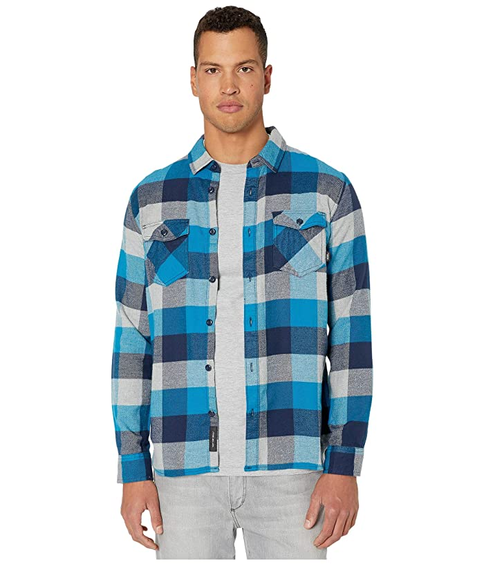 UPC 679894066999 product image for Vans Box Flannel Shirt (Turkish Tile/Grey Heather) Men's Clothing | upcitemdb.com