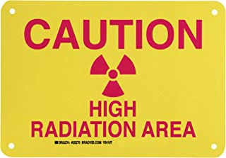 Brady 25270 Plastic Radiation & Laser Sign, 7