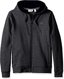 Lacoste Mens Sport Fleece Zip Up Hooded Sweatshirt