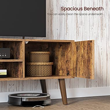 VASAGLE TV Stand, TV Cabinet for TVs up to 43 Inches, Mid-Century Modern TV Console Entertainment Center for Living Room, Bed