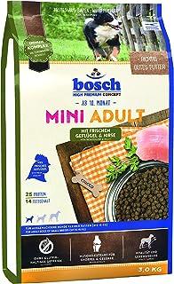 ボッシュ ミニアダルトチキン&キビ 10ヶ月以上 通常活動レベルの小型成犬用総合栄養食 全犬種用 小粒 ハイプレミアム ドッグフード 3kg