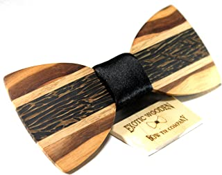 """Solid Multi Exotic Wood with Black Fabric Center 22"""" Elastic Band"""
