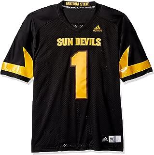 adidas Adult Men NCAA Premier Football Jersey, Large, Black, Arizona State Sun Devils