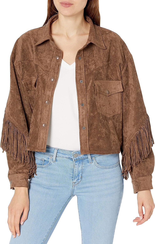 Vintage Echo Mountain by Arturo brown suede leather fringe boho jacketfestival fringe hippie shirt jacket10
