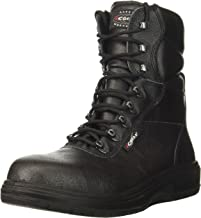 COFRA Leather Work Boots - US Road Treadless Asphalt Footwear with Composite Safety Toe & Heat Defender Nitrile Rubber Outsole