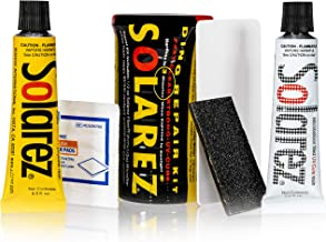 Solarez Polyester Mini Travel Kit ~ Surfboard Ding Repair - Paddle Board Wakeboard Repair ~ Kit Includes: Poly and Microlite Fast Cure Resins, Sanding Pad, Spreader, Acetone Pad, in Watertight Capsule
