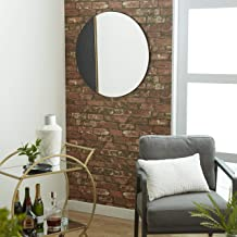 مرآة حائط 79 ديكو ، كبيرة ، أسود