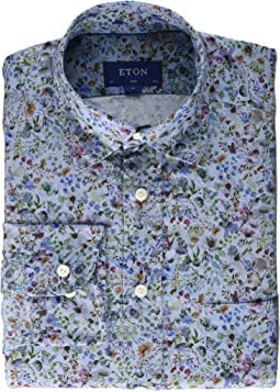 Slim Fit All Over Grey Floral Shirt