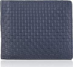 VOGARD Men's Genuine Leather RFID Protected Wallet (Blue)