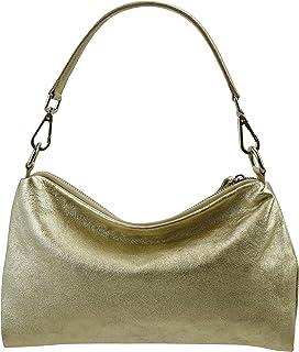 SH Leder Echtleder Umhängetasche mittelgroße schultertasche Abendtasche Clutch Crossbody Bag Messenger Handtasche mit Reiß...