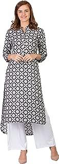 Women Designer Straight Kurta Kurti top Tunic 3/4 Sleeves Printed Solid.