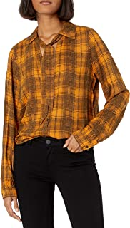 PAIGE Women's Taryn Shirt, Marigold/Black