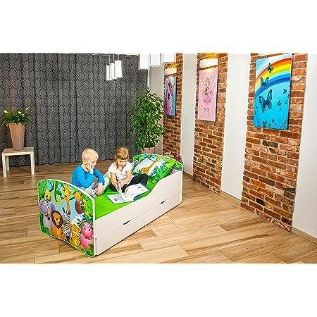 Neuf Lits Pour Enfants Tiroir + matelas 140x70/160x80/180x80 (17) (160x80)