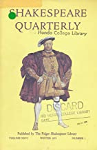 Shakespeare Quartrly : Falstaff in Windsor Forest - Villiain or Victim; Edmund's Redemption in King Lear; Identity in Pericles, Prince of Tyre; Vocabulary of the Environment in the Tempest