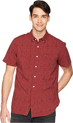 Geo Print Short Sleeve Woven Shirt