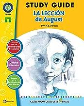 Guía de Estudio - La Lección de August (Wonder Novel Study - Spanish Version) (Spanish Edition)