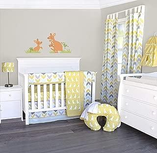 Pam Grace Creations 6 Piece Crib Bedding Set, Gold/Honeydew Kangaroo, Standard Crib