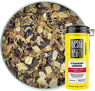 Tiesta Tea - Strawberry Lemonade, Loose Leaf Strawberry Lemon Herbal Tea, Strawberry Lemonade, 4 Ounce, Tin - 50 Cups