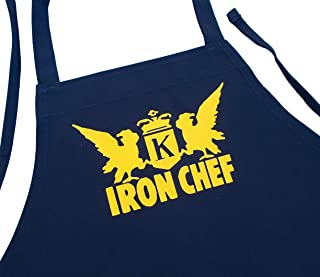 Iron Chef Black Aprons For Food Network Fans Black One Size Fits Most