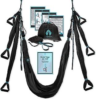 Aerial Yoga Swing Set – Yoga Hammock Swing – Trapeze Yoga Kit – 2..