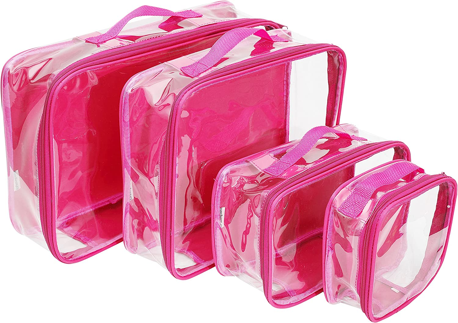Clear Travel Packing Cubes Set of 4 On Carry for XS Max 43% OFF Med Small Washington Mall