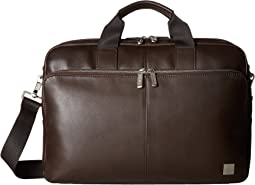 KNOMO London Brompton Classic Amesbury Double Zip Briefcase