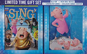 Sing Limited Edition Gift Set + 7 Character Cards + 3 New Mini-Movies (Blu Ray + DVD + Digital HD)