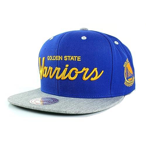 watch 36b7e 556df NBA Mitchell   Ness Special Script Heather Visor Adjustable Snapback Hat
