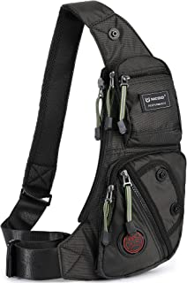 Nicgid Sling Bag Chest Shoulder Backpack Fanny Pack Crossbody Bags for Men(Black)