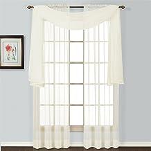 ستارة نافذة نصف شفافة من شركة يونايتد Curtain Co، 137 سم × 95 سم، لوحة ستارة طبيعية