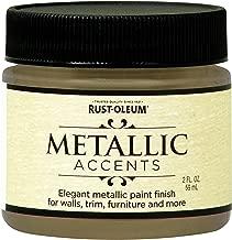 Rust-Oleum 255290 Metallic Accents Paint, 2 oz Trial Size, Soft Gold