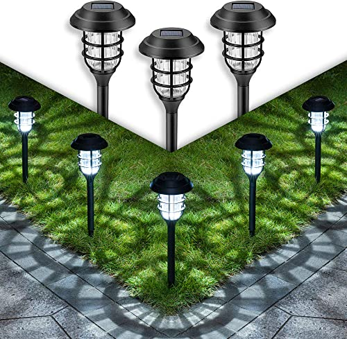 wholesale GIGALUMI Solar 2021 Pathway Lights popular Outdoor, 8 Pcs Solar Powered Yard Lights, Waterproof Led Solar Landscape Lights for Yard, Lawn, Patio, Garden, Path, Walkway or Driveway(Cold White) online sale