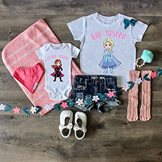 Frozen Big sister little sister matching set frozen two big sister little sister outfit bundle set big sister shirt little sister bodysuit