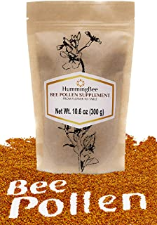 HummingBee Bee Pollen, Make Your Body Healthier Every Day - 100% Natural Super Food - 10.6 OZ (300gr)