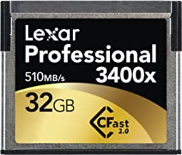 Lexar Professional 3400x 32GB CFast 2.0 Card (Up to 510MB/s Read) w/Image Rescue 5 Software LC32GCRBNA3400
