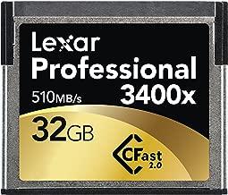 Lexar Professional 32GB 3400x Speed  510MB s  CFast 2 0 Memory Card