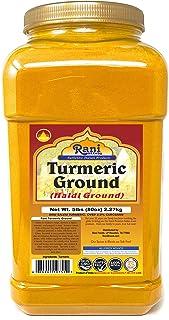 Rani Turmeric (Haldi) Root Powder Spice, (High Curcumin Content) 5lbs (2.27kg) PET JAR, Bulk ~ All Natural | 100% Pure, Sa...