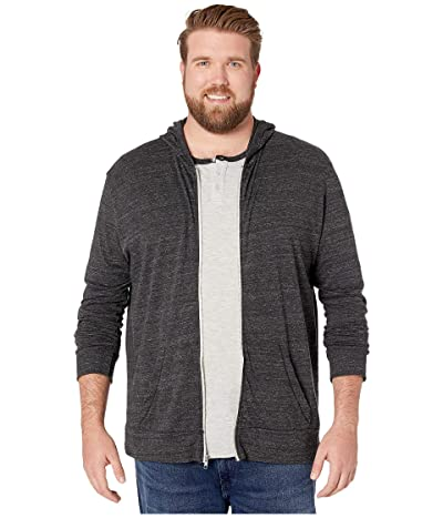 Alternative Big Tall Eco Zip Hoodie (Eco Black) Men