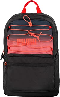 Girls' Aesthetic Bungee Backpack, Black/Red, Youth Size