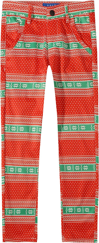 SSLR Big Boys' Xmas Holiday Ugly Christmas Pants