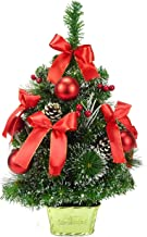 Christmas Concepts 60cm Decorated Frosted Tree with Pine Cones & Red Decorations