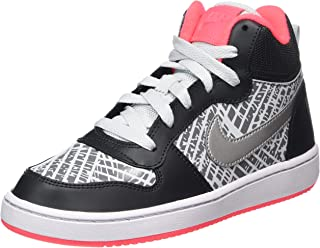 meet 8736c f5f09 Nike Court Borough Mid Girls Sneakers Anthracite Metallic Silver - Big Kids