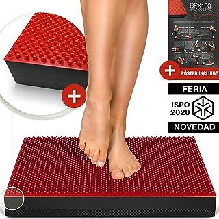 2en1 Almohadilla de Equilibrio, XXL Cojín Deportivo para Equilibrio o para Favorecer la Circulación Sanguínea. Rehabilitación, Fisio Y Entrenamiento Holístico - BPX100 - Incl. Póster de Ejercicios
