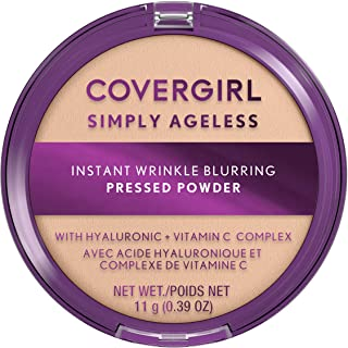 Covergirl Simply Ageless Instant Wrinkle Blurring Pressed Powder, Fair Ivory, 3.9 Oz.