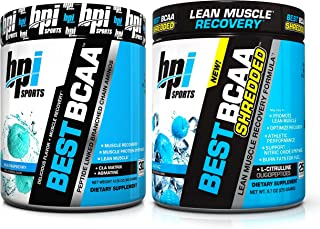 BPI Sports Muscle Recovery & Weight Loss Branched Chain Amino Acid Stack - Best BCAA (30 Servings) and Best BCAA Shredded ...
